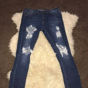 Blue ripped denim Jeans